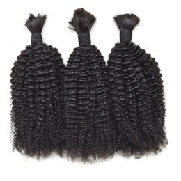 Brazilian Kinky Curly Braiding Hair UK - 3 Bundles Human Hair Bulk Unprocessed Human Braiding Hair Bulk No Weft Brazilian Kinky Curly Human Hair G-EASY