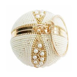 Vente en gros 2017 Ronde Perle Sacs De Soirée De Luxe Diamant Femmes Jour Sacs D'embrayage Sacs À Main Balle Globe De Cristal Perlé Sacs De Noce Li451