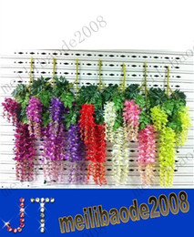 christmas vines NZ - Flowers New Simulation Artificial Silk Flowers Beautiful Wisteria Flowers Vine Birthday Christmas Ornaments For Party Wedding Dec MYY10611A