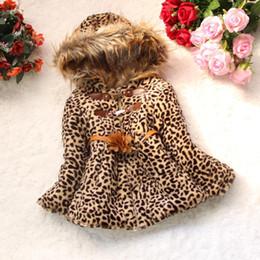 $enCountryForm.capitalKeyWord Canada - 2015 winter baby Jacket Children warm outerwear big flower Girls Leopard faux fox fur collar coat clothing with bow wear Clothes baby D600M