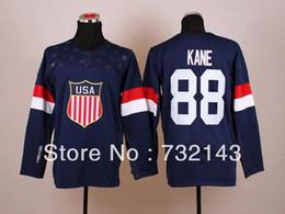 $enCountryForm.capitalKeyWord Canada - 2014 Sochi Olympic Team USA Home #88 Patrick Kane Blue Ice Hockey Jerseys Emboridered Logo Size M-XXXL
