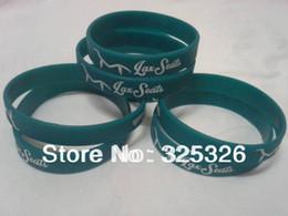 $enCountryForm.capitalKeyWord Canada - Free shipping white logo print Customized logo green Silicone wristbands,bracelet,wrist band 50pcs lot 100% silicone guaranteed