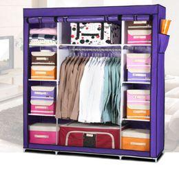 Steel Closets Canada - Super Large Reinforced Portable Home Wardrobe Storage Hanger Closet Organizer Rack New