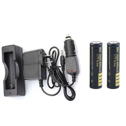 2 x 18650 4000 mAh Li-Ion Akku Tragbare 18650 Ladegerät + Auto Ladegerät + AC adapter für Einzel 18650 Batterie