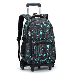 kids backpacks sales Canada - Hot Sales Removable Children School Bags With 3 Wheels Child Climb Stair Trolley Nylon Backpack Kids Wheeled Bags Boys Girls Bookbag