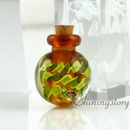 small cremation urns 2019 - small glass bottles for pendant necklaces cremation urns jewelry for ashes lockets jewelry urns for ashes