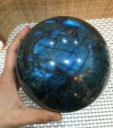 DOĞAL Labradorit Kristal küre topu mavi Orb Gem Taş indirimde