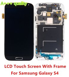 Touch Screen For Galaxy S4 Canada - High Quality A+ For Samsung Galaxy S4 i9500 i337 L720 9505 LCD Screen with Touch Screen Digitizer + Bezel Frame Assembly Free Shipping