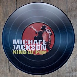 michael paintings UK - Michael Jackson King of Pop Round Retro Embossed Tin Sign Poster Wall Bar Restaurant Garage Pub Coffee Home Decor Christmas Gift
