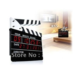 Wholesale New Movie Slate Clapper Director Action Board LED Digital Alarm Clock With Calendar Display