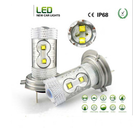 car lights 2018 - LED Chip 50W H7 H4 LED Car Fog Lights Fog Lamps, High Power Auto Daytime Running Light Car Bulbs LED Headlight White dis
