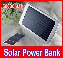 Battery Power Cell Phone Charger Canada - New 50000mah Solar Charger and Battery 50000 mAh Solar Panel Dual Charging Ports portable power bank for All Cell Phone table PC MP3