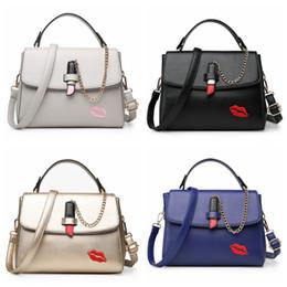 $enCountryForm.capitalKeyWord Canada - 2017 New Women Lipstick Pattern Handbags Female Korea Crossbody Fashion Chain Shoulder Bag for Girl Leisure