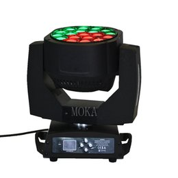 Chinese  Moka MK-M23 Led Fixture Light RGBW Zoom 19x15W Bee Eye Moving Head Light with Flight Case manufacturers