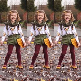 $enCountryForm.capitalKeyWord Canada - Retro Floral Kids Baby Girls Outfits Clothes Long Sleeve T-shirt Tops +Short Pants 2PCS Set Ruffle Green Girl Clothing Boutique