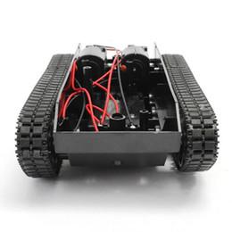 Robot inteligente Kit de chasis del carro de goma Rastreador de orugas para Arduino 130 Motor rc tank Control remoto rc tanques de juguete de plástico #TX