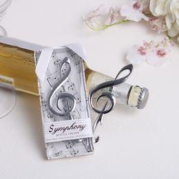 Venta al por mayor de Venta al por mayor Envío gratuito de recuerdos de boda diseño creativo Nota de la música Sinfonía diseño abrebotellas de cerveza # e42