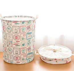 Foldable Pop Up Laundry Basket Canada - Fashion Foldable Pop Up Dirty Clothes Washing Laundry Basket Bag Bin Hamper Storage for Home Housekeeping Use Storage Baskets 2016 Style