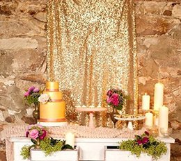 Photography Prop Backdrops Canada - 8ft X 8ft ,Gold Sequin Backdrops, Sequin Photo Booth Backdrop, Party Backdrops,wedding Backdrops, Sparkling Photography Prop