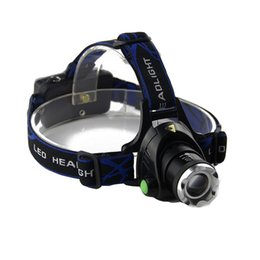 Headlight Focusing Canada - 2000Lm Waterproof CREE XML T6 LED Zoomable Headlamp Headlight Head Lamp Light Zoomable Adjust Focus For Bicycle Camping Hiking