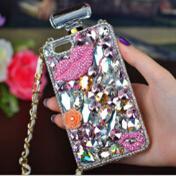 Rhinestone Case For S5 Canada - Minion Crystal case glitter lip Rhinestone silicone TPU Perfume Case flower for samsung galaxy s4 s5 s6 s6edge note3 note4 free shipping