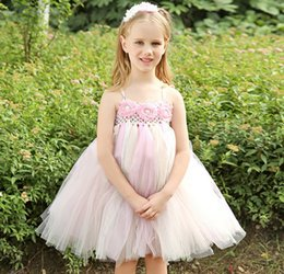 $enCountryForm.capitalKeyWord Canada - 2015 Pearl Rhinestone Beads Flower Lace Wedding Gauze Chiffon Veil Tutu Kids Clothes Tank Full Dress Children Formal Dresses D4870