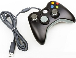 Xbox Pc Controllers Canada - USB Wired Game XBOX 360 Controller Gamepad Joypad Joystick For Xbox 360 XBOX360 Slim Accessory PC Laptop Computer Retail Packaging DHL Q3