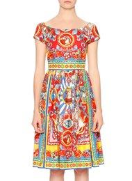 Старинные печати женщин-Line платье с коротким рукавом платья 010607E