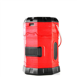 TenT waTerproofing online shopping - 185Lumens Waterproof Portable Outdoor Camping Lantern solar Lamp Rechargeable Emergency Tent Light with USB Hook Battery lighting