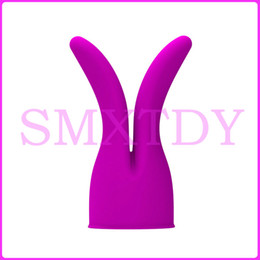 Barato Luva De Massager Para Varinha-Pretty Love AV Vibrator Caps Wand Massager Sleeves, AV Rod Vibrator Acessórios AV Wen Headgears Magic Wand Attachment Sex toys q1711243