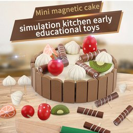 $enCountryForm.capitalKeyWord NZ - Wooden baby Kitchen Toys pretend play cutting cake Play Food Kids toys Wooden fruit cooking Toy