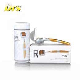 zgts titanium derma micro needle Canada - 2015 New Style Factory Wholesale 192 needles Titanium micro needle ZGTS derma roller system derma rolling