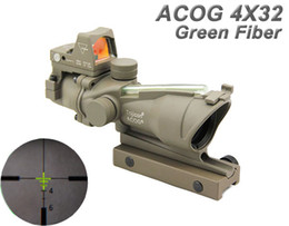 $enCountryForm.capitalKeyWord Canada - Tactical Trijicon ACOG 4x32 Real Fiber Source Green Illuminated Rifle Scope With RMR Mini Red Dot Sight Dark Earth