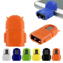 $enCountryForm.capitalKeyWord NZ - Micro USB to USB OTG Adapter Android Robot Shape OTG Adapter for smart phone,mobile phone Connect to USB Flash Mouse Keyboard Universal