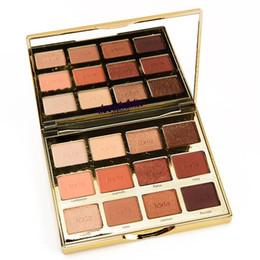 Livraison Gratuite T en Fleurs Toastées 12 Couleurs Imperméable Mat et Shimmer Palette Fard À Paupières pour Femmes Maquillage Cosmétiques en Solde
