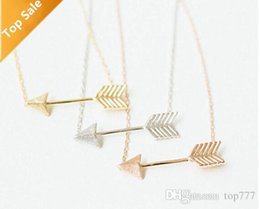 Chinese  1016 Metalwork Silver Minimalist Jewelry Bridesmaid Gift Rose Gold Hunger Games Arrow Necklace Pendant For Women Men manufacturers