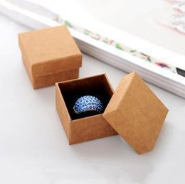 Wholesale Boxes Packaging Canada - Wholesale High quality Jewelry Packaging and display Boxes Kraft Paper Box Ring Box Earrings Box Pendant gift Box RJ1107 0416dd