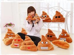 Stuffed Animal Holds Toys NZ - 6 styles 18cm emoji Stuffed Animals Hold pillow cute Big poop emoji Plush Toys Pillow case EMS free shipping C325