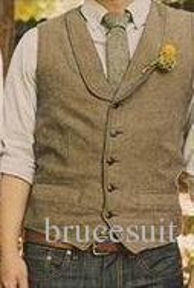 $enCountryForm.capitalKeyWord Australia - 2018 Unique Wool Tweed Vest 3 Style For Choose Groom Vests British Style Mens Suit Vests Farm Wedding Waistcoat Mens Dress Vests Slim Fit