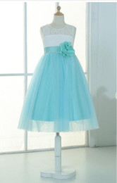 $enCountryForm.capitalKeyWord NZ - Ivory lace mint tulle keyhole flower girl dress tutu kids children junior bridesmaid dress with mint sash detachable for wedding
