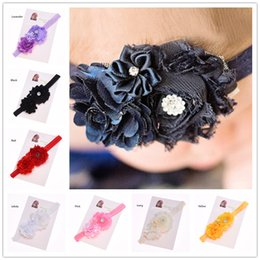 Bandeau Satiné Bon Marché Pas Cher-12 pcs Mignon Fantaisie Flower Chic Headband Premier cadeau d'anniversaire Newborn Baby Headwear Bandeau en satin Flower Headband Cheap Hairbows
