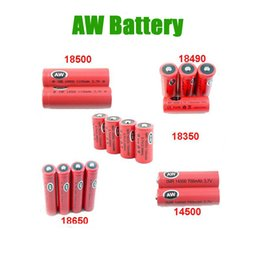 Electronic Imr Canada - Free shipping AW IMR 18350 18490 18500 14500 18650 LI-MN high drain battery for Mechanical Mods Itaste Vamo Electronic Cigarette e cig kits
