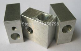Number Blocks Australia - Free Shipping With Tracking Number 5pcs lot Aluminium Heater Block For RepRap Makerbot 3D Printer Extruder Hot End With Screw