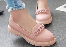 spring peas shoes Canada - 2016 new spring chain shallow mouth flat shoes slip on shoes, sweet peas large wind tide shoes