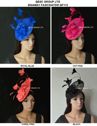 $enCountryForm.capitalKeyWord Canada - New Arrival. sinamay Feather Fascinator Hat for Melbourne cup,Wedding.Kentucky derby,Races.royal blue,black,hot pink,coral pink.