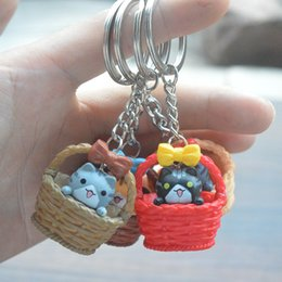 Personalized boy gifts australia new featured personalized boy hot sale creative basket cat key chain personalized diy key chain bag pendant gift wholesale free shipping negle Images