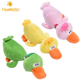 $enCountryForm.capitalKeyWord NZ - Pet Puppy Dog Toys Plush Duck Shaped Sound Squeaker Chewing Toys Small Pets Playing Fun Toy 3 Colors
