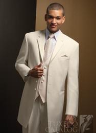 $enCountryForm.capitalKeyWord NZ - Extra Long White Groom Tuxedos Groomsmen 4 Buttons Men Wedding Suits Fine workmanship, exquisite workmanship (Jacket+Pants+Tie+Vest) Custo
