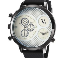 Glasses Big Face Canada - Hot sale V6 Casual Quartz Mens big face Watches Sport rubber Wristwatch Dropship Silicone Clock Fashion Hours Dress Watch CHRISTMAS GIFT
