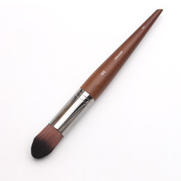 Professional Makeup Artist Long Wood Handle Straight Hair 100 Small Face And Body Precision Foundation Brush